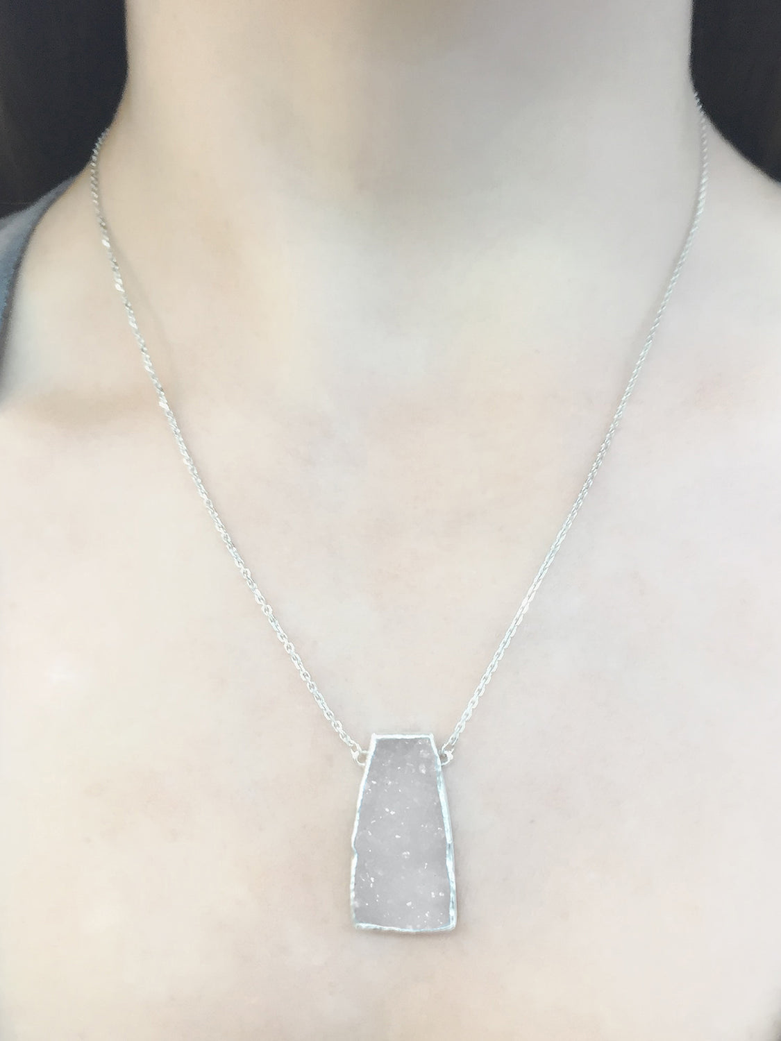 Tapered Druzy Necklace