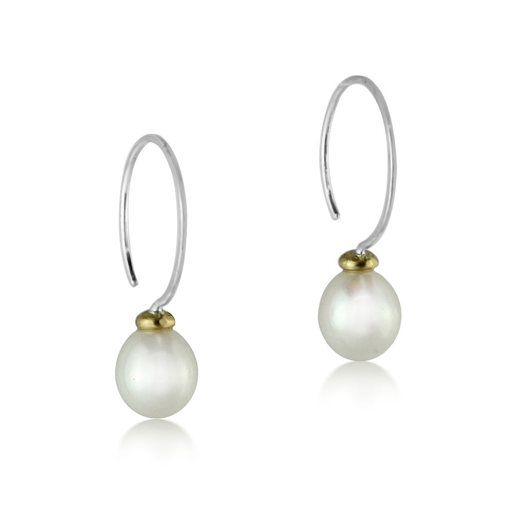 Pearl Droplet Hoops