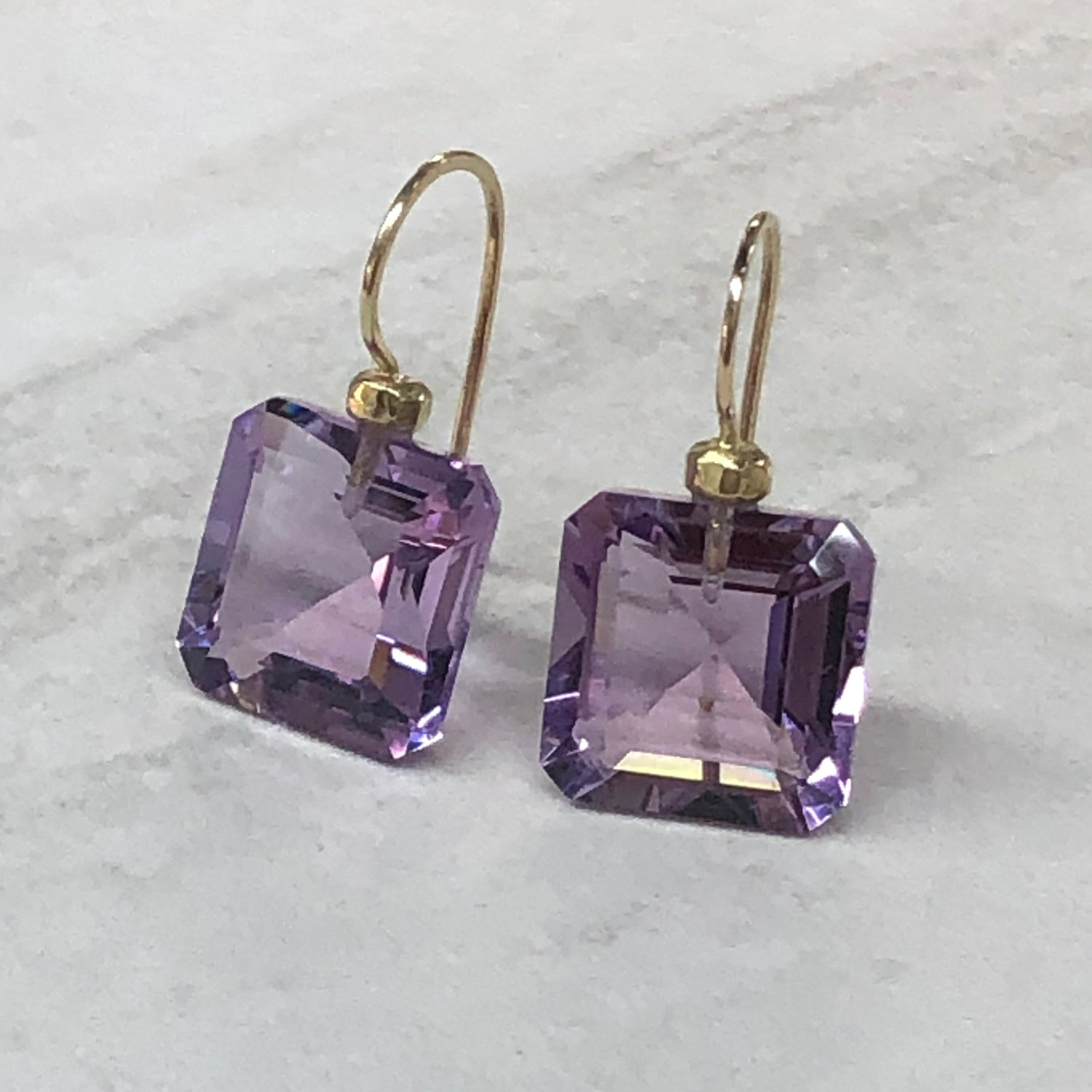 Amethyst Square Drops