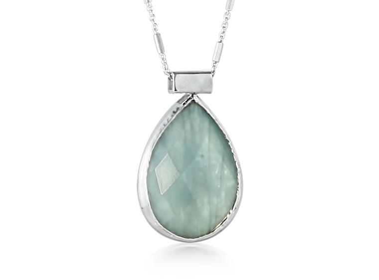 Teardrop Aquamarine Necklace