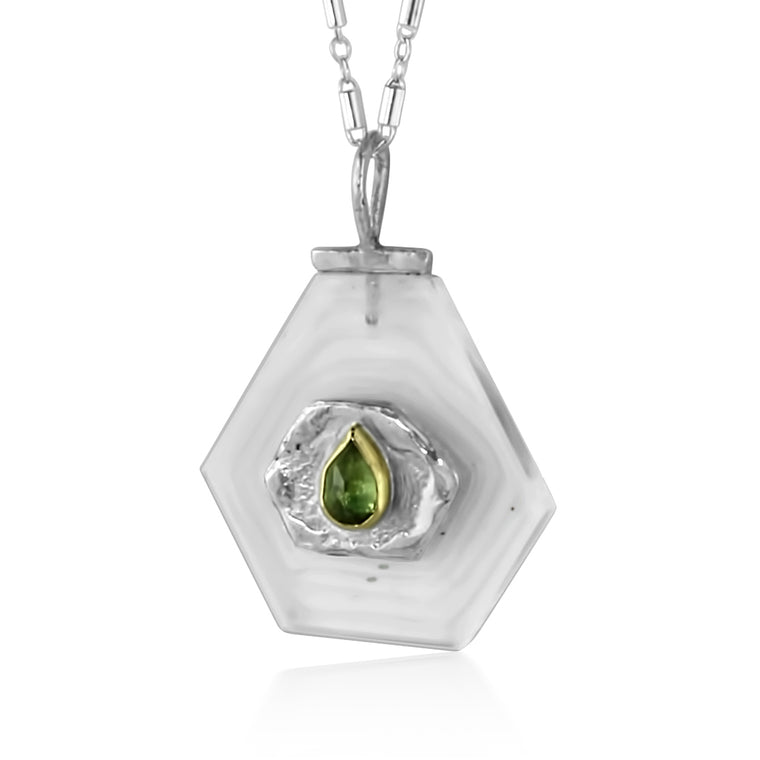 Teardrop Peridot Path Necklace