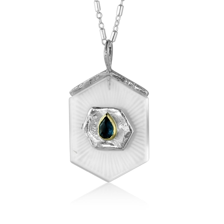 Teardrop Topaz Path Necklace