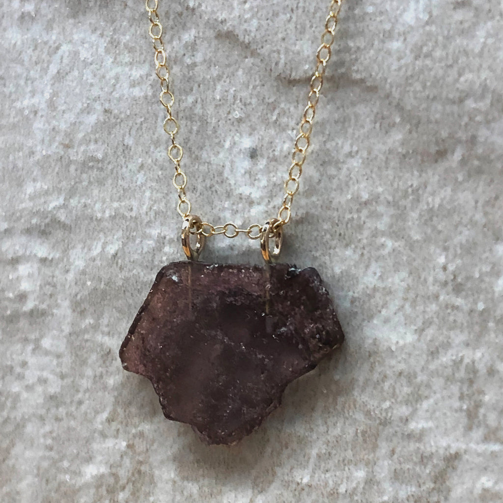 Tourmaline Slice Necklace
