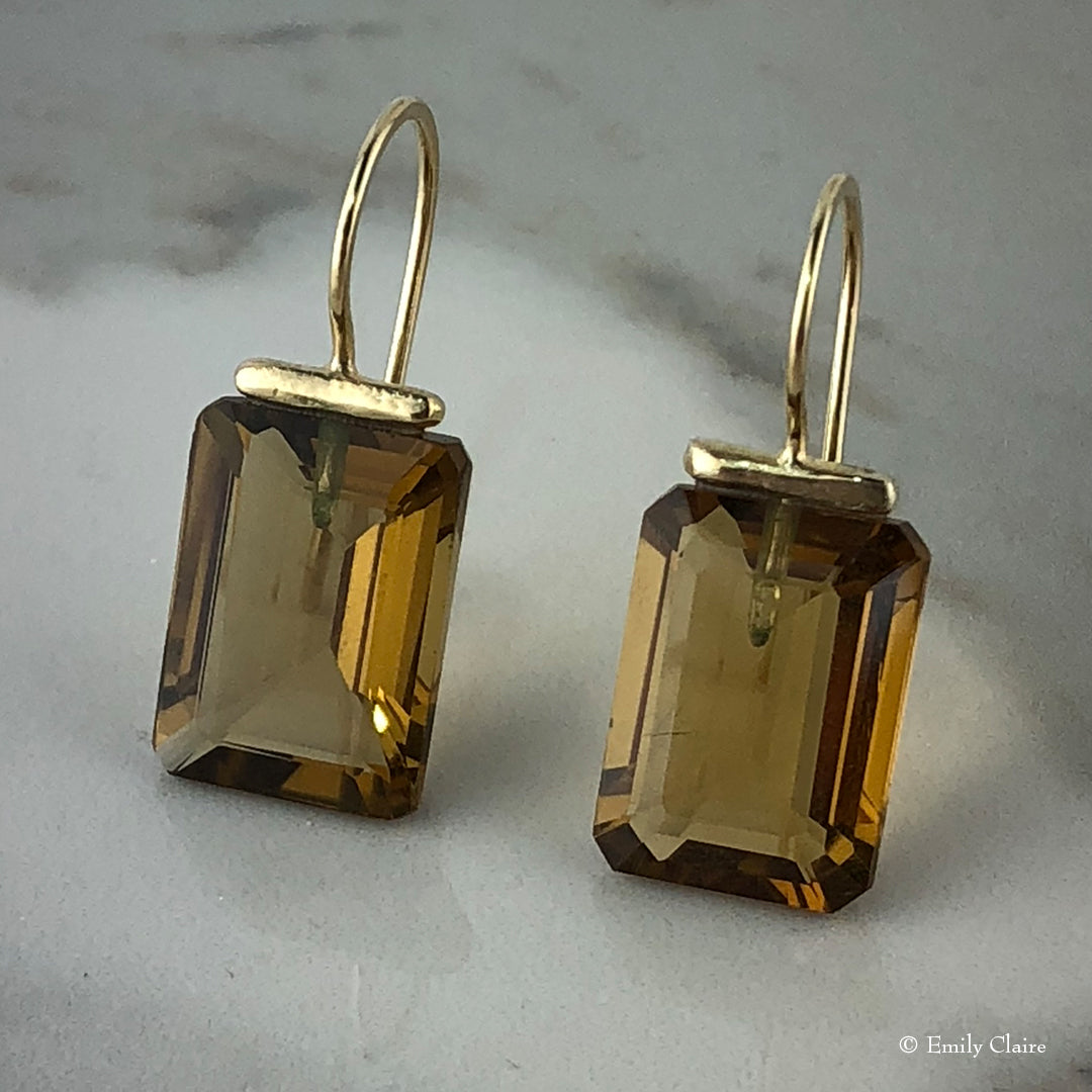 Whiskey Quartz Rectangle Drops