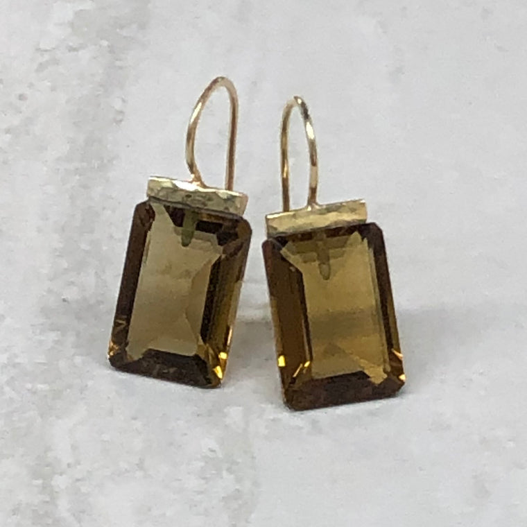 Whiskey Quartz Hammered Bar Drops