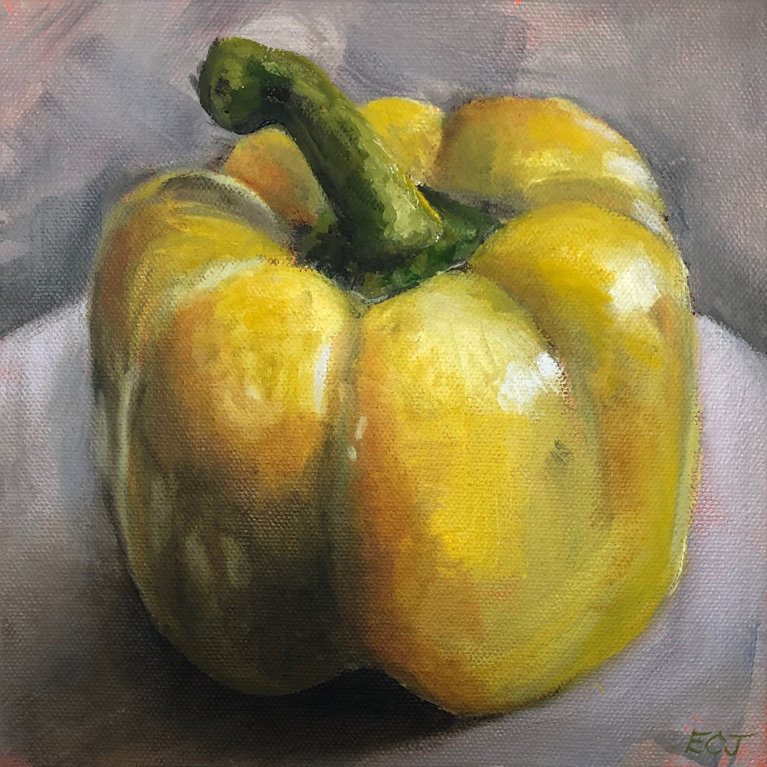 "Yellow Pepper, 8""x8"""