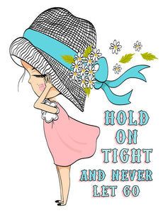 Hold On Tight and Never Let Go Journal/Notebook 185 pgs.