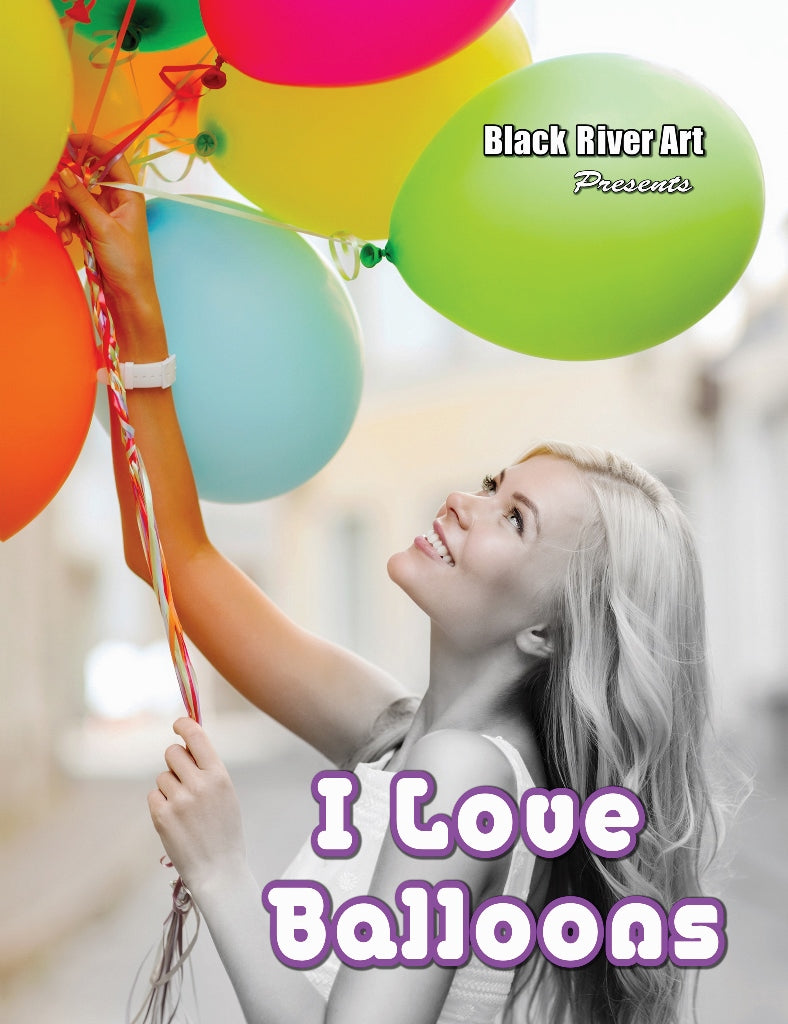 I Love Balloons Grayscale Coloring Book