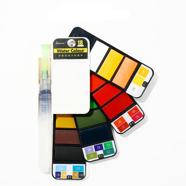 Set Aquarelle Portable 18 couleurs