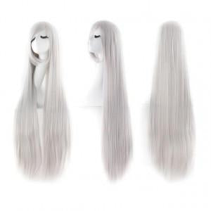 Perruque-Cosplay-Extra-Longue-Gris-Femme