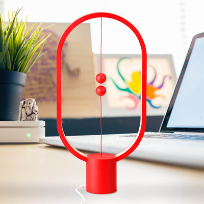 Heng Balance Lamp, Ellipse Red Nightstand Desk Table Night Book Reading Lamps Lights for living room bedroom Home Decoration