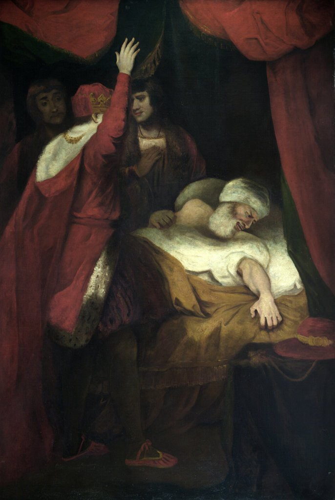 Detail of Henry VI, Pt. 2, Act III, Sc. iii, The Death of Cardinal Beaufort. by Joshua Reynolds