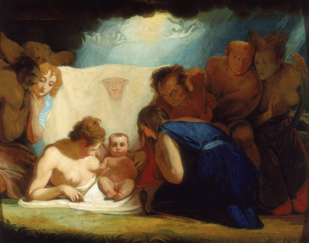 Detail of The Infant Shakespeare attended by Nature and the Passions by George Romney