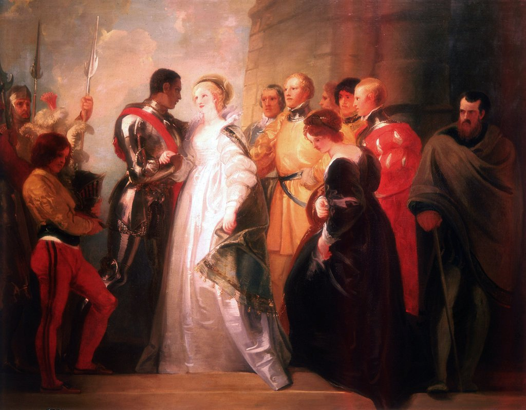 Detail of Othello, Act II, Sc. i, The Return of Othello by Thomas Stothard