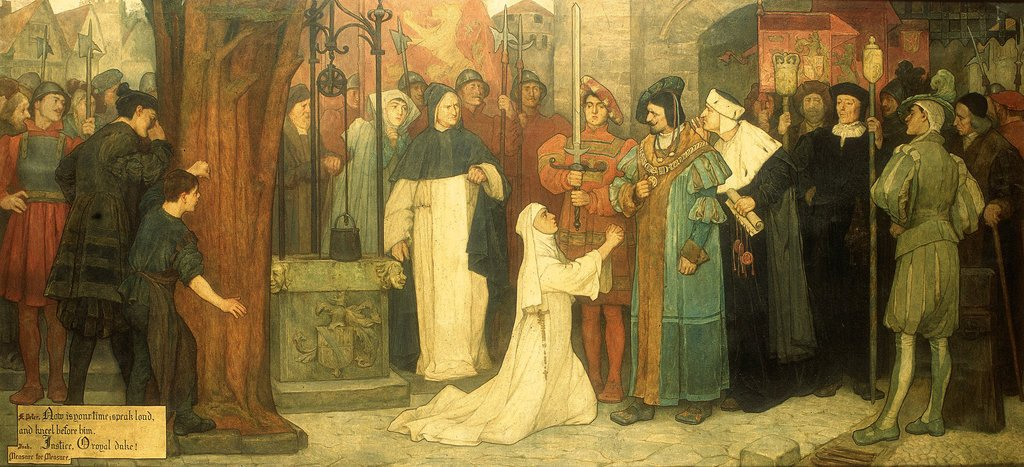 Detail of Measure for Measure, Act V, Sc. i, Isabella appealing to the Duke by Frederick William Davis