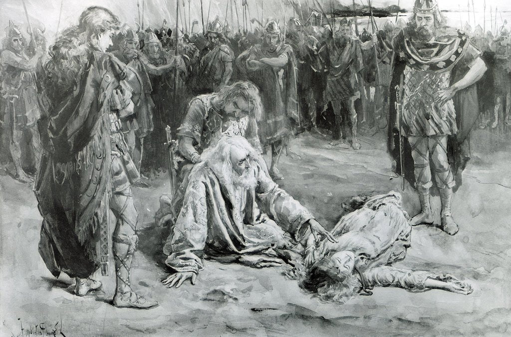 King Lear and Cordelia by Bernard Patridge