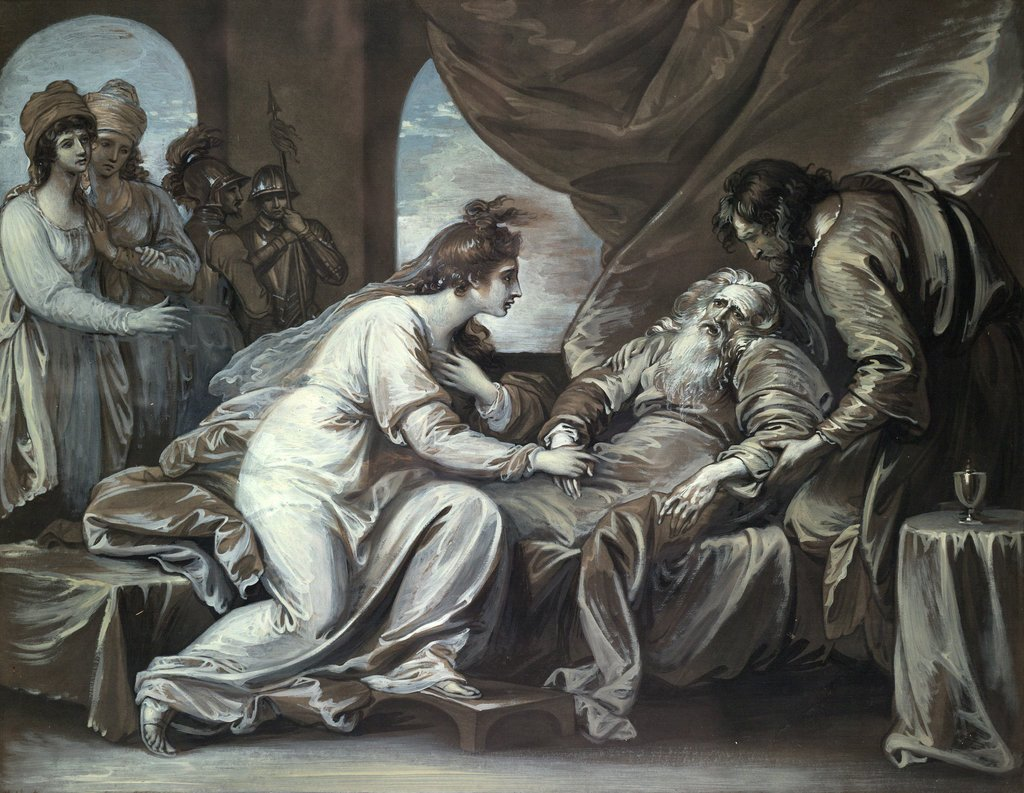 Detail of Lear and Cordelia by Benjamin West