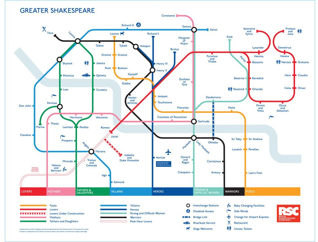 Detail of Greater Shakespeare Map poster by Kit Grover