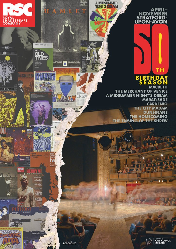 Detail of RSC 50th Birthday Season Poster, 2011 by Michael Boyd