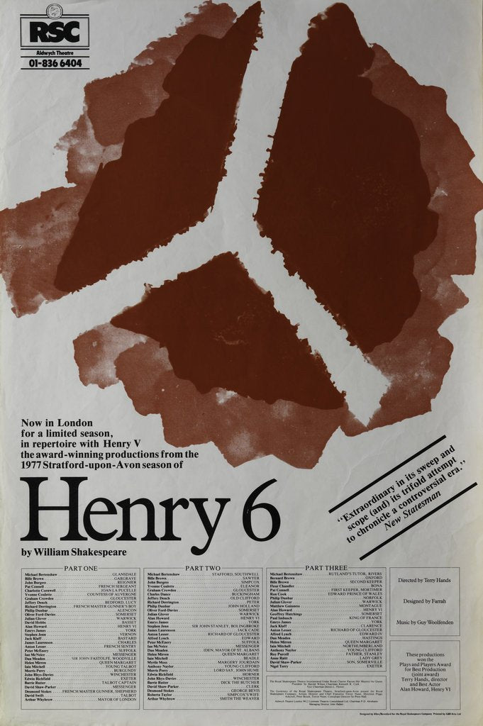 Detail of Henry 6, 1978 by Terry Hands