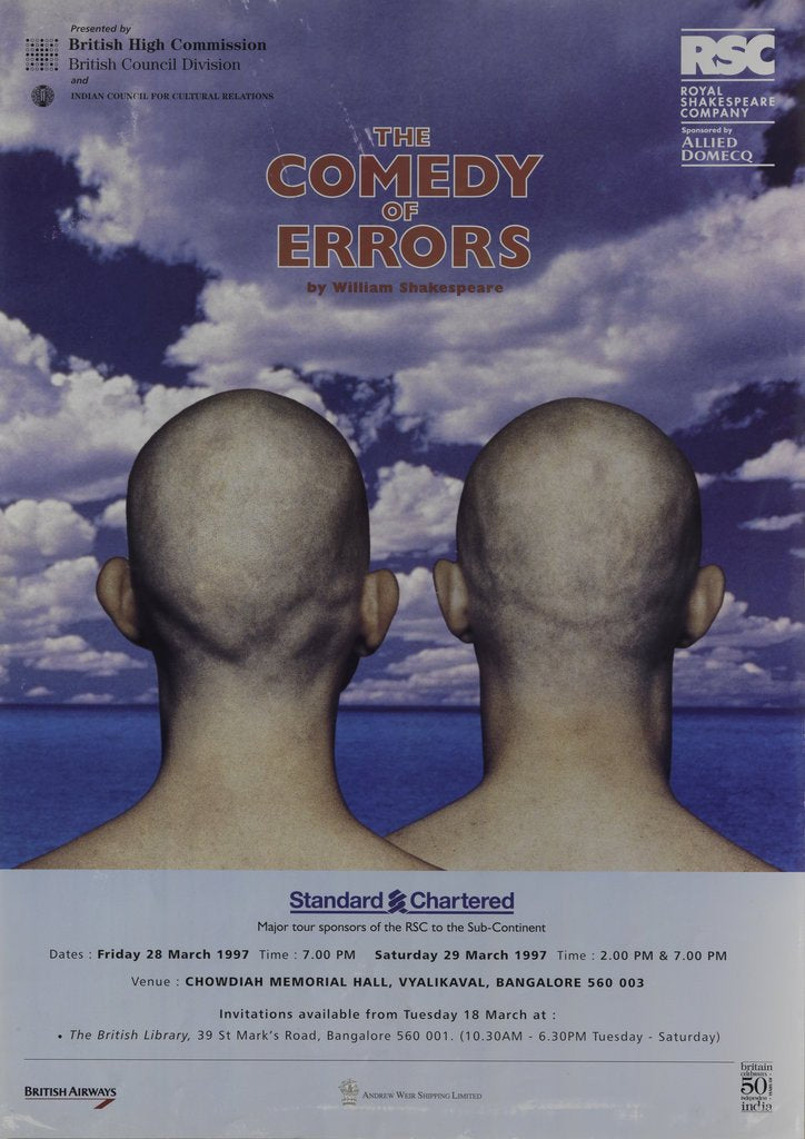 Detail of The Comedy of Errors, 1997 by Tim Supple