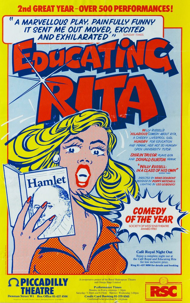Detail of Educating Rita, 1980 by Mike Ockrent