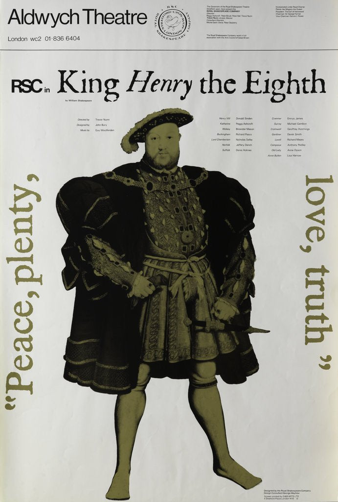 Detail of Henry VIII, 1970 by Trevor Nunn