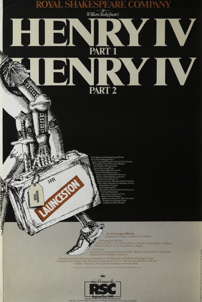 Detail of Henry IV Part 1 and Part 2, 1980 by Bill Alexander