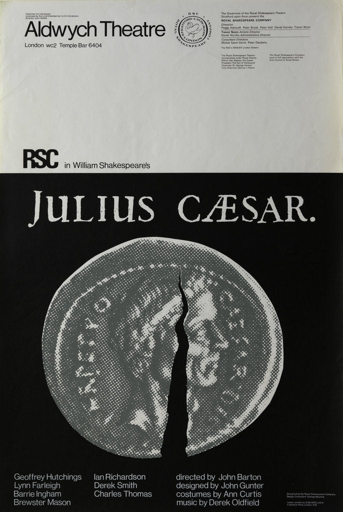 Detail of Julius Caesar, 1968 by John Barton