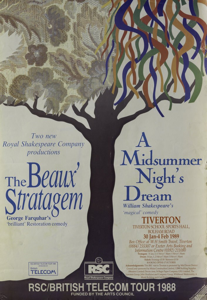 Detail of The Beaux' Stratagem / A Midsummer Night's Dream, 1988/89 by Clifford Williams
