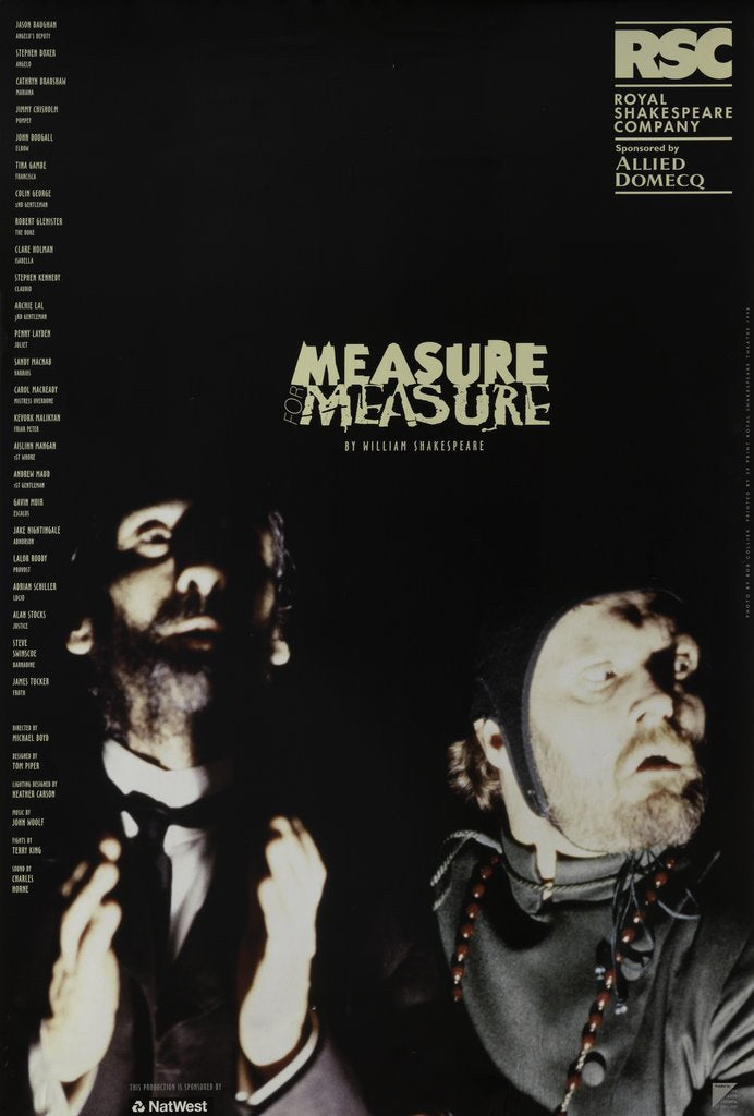 Detail of Measure for Measure, 1998 by Michael Boyd