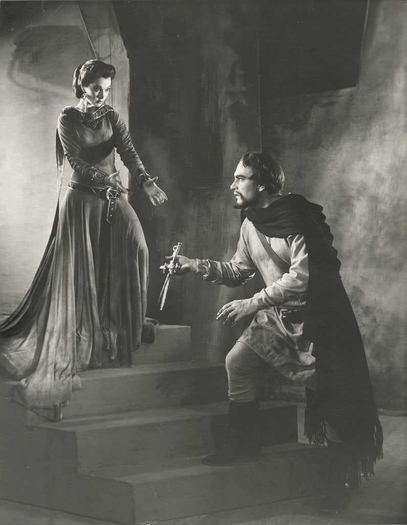 Detail of Macbeth 1955, Lady Macbeth asks for the daggers from Macbeth without scratch by Angus McBean