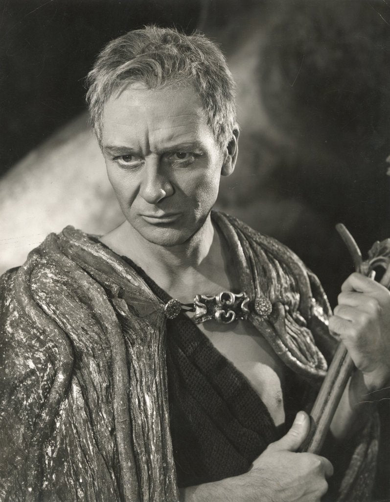 Detail of The Tempest 1957, John Gielgud as Prospero by Angus McBean