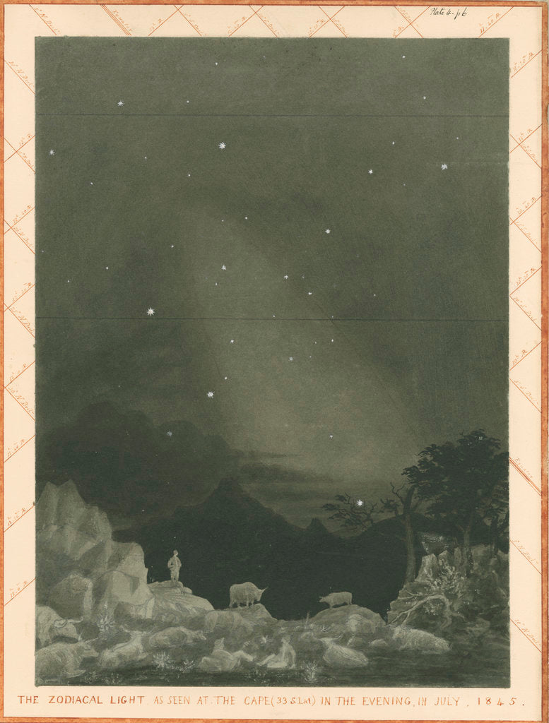 Detail of 'The zodiacal light as seen at the Cape' by Charles Piazzi Smyth