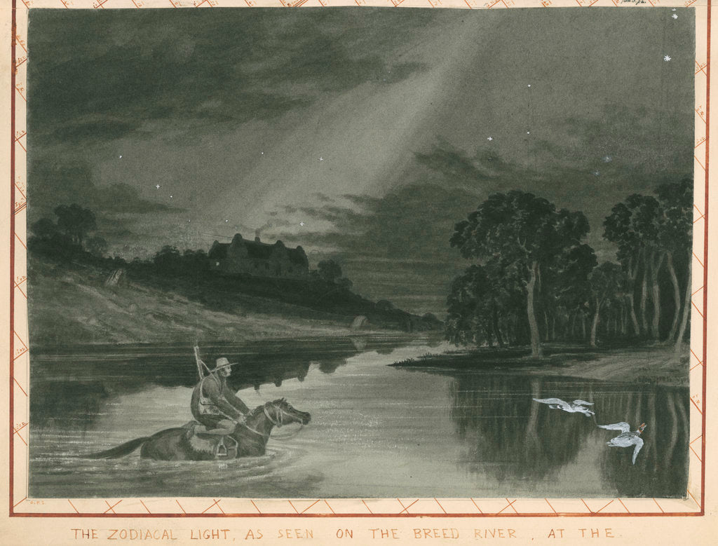 Detail of 'The zodiacal light as seen on the Breed River' by Charles Piazzi Smyth