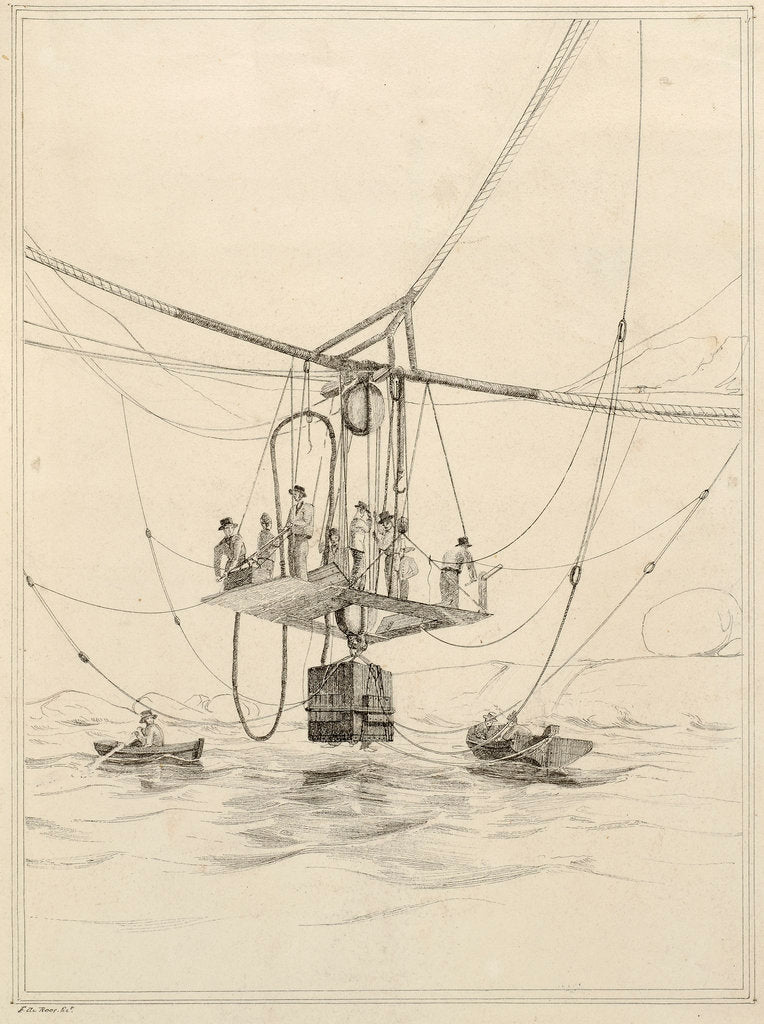 Detail of Diving bell used for salvage operations on the wreck of H.M.S.Thetis by John Frederick Fitzgerald De Roos