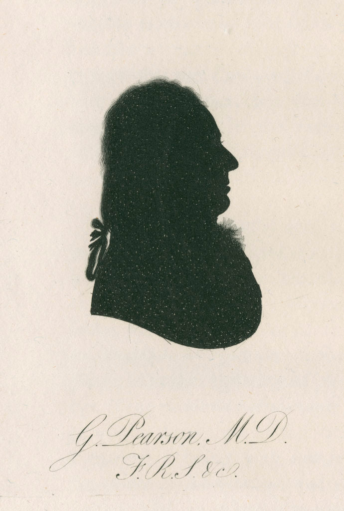 Detail of Portrait silhouette of George Pearson (d.1828) by Anonymous