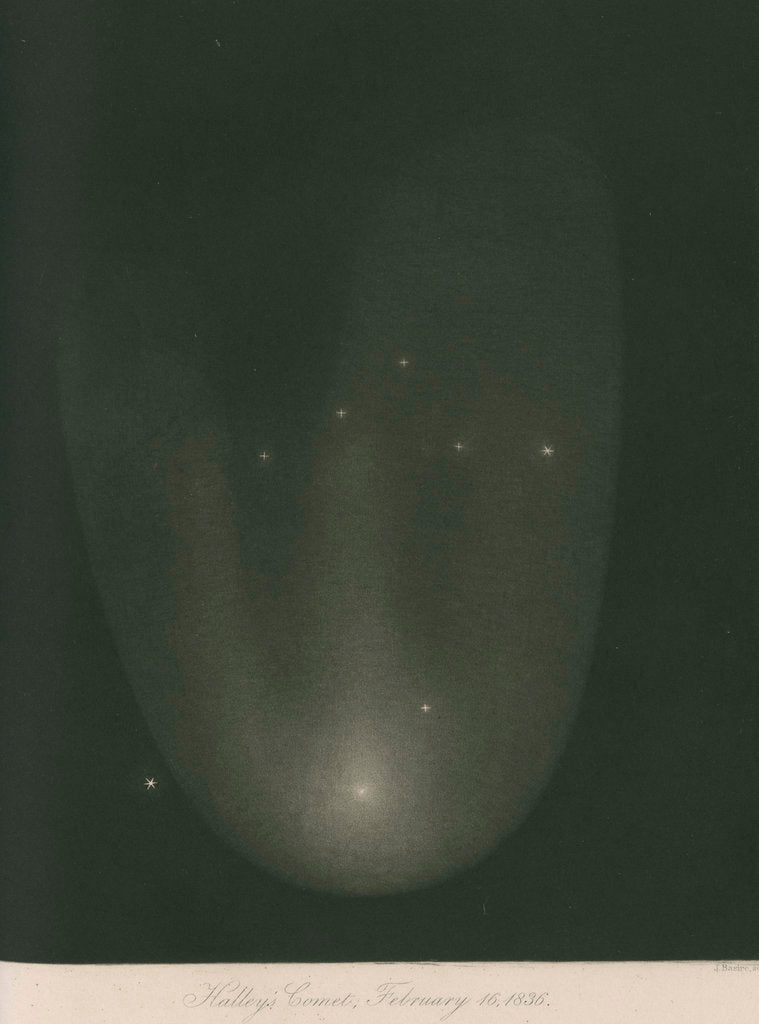 Halley's Comet, 16 February 1836 by James Basire III