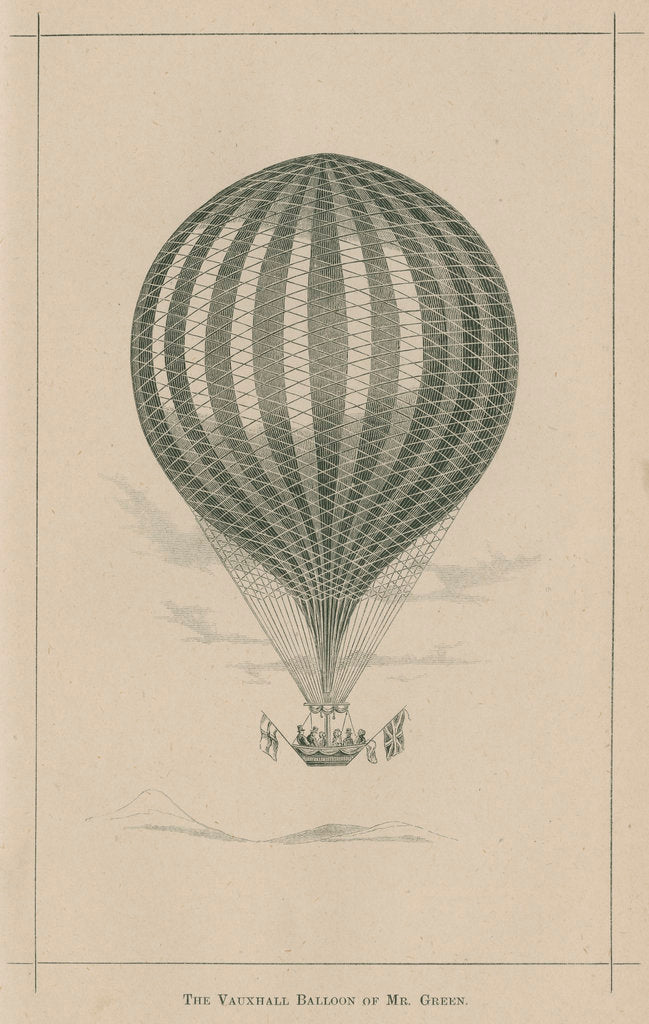 Detail of 'The Vauxhall balloon of Mr. Green' by William Ballingall