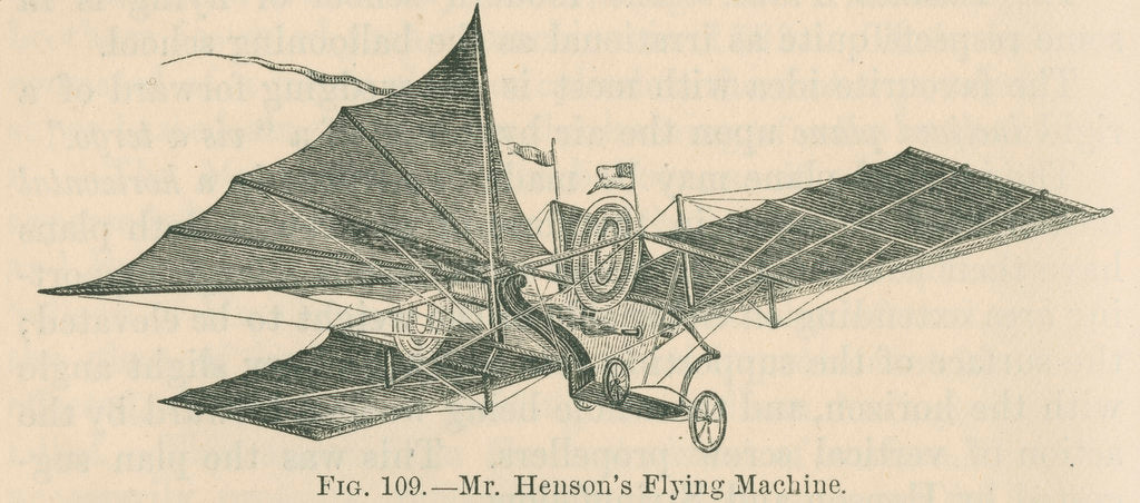 Detail of 'Mr Henson's flying machine' by William Ballingall