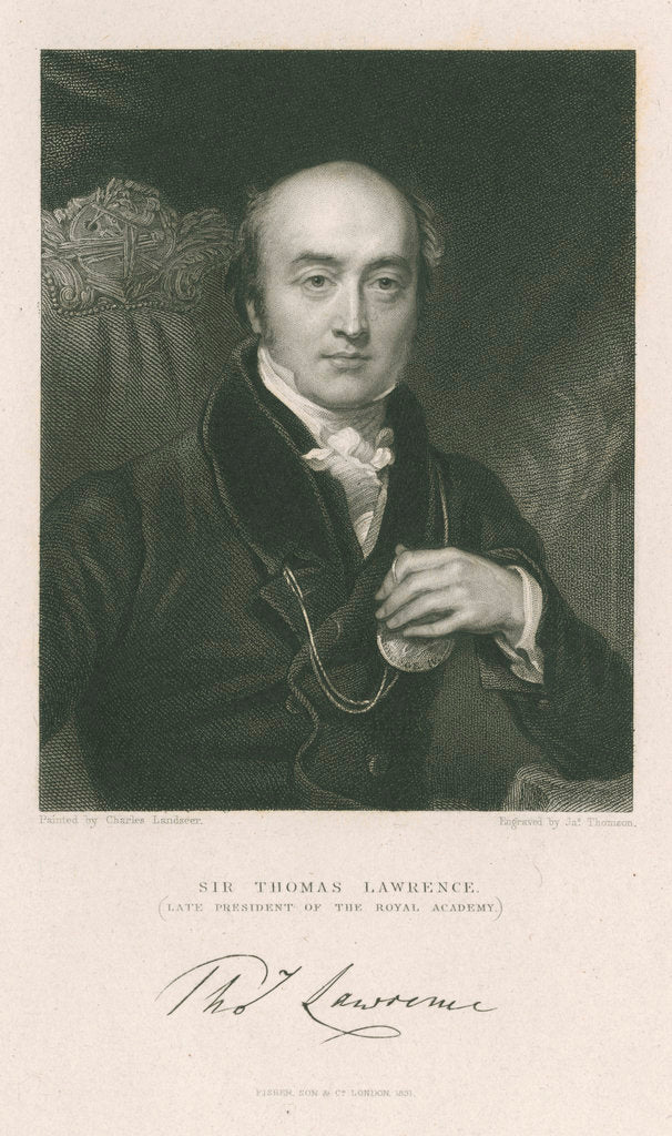 Detail of Portrait of Thomas Lawrence (1769-1830) by James Thomson