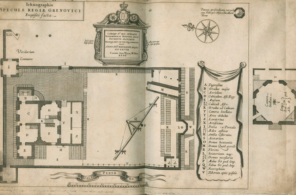 Detail of Plan of the Royal Observatory, Greenwich by Francis Place