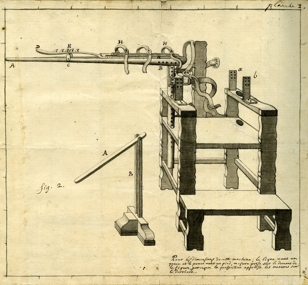 Detail of 'Ambe of Hippocrates': contraption for repairing dislocated shoulder by Claude-Nicholas Le Cat