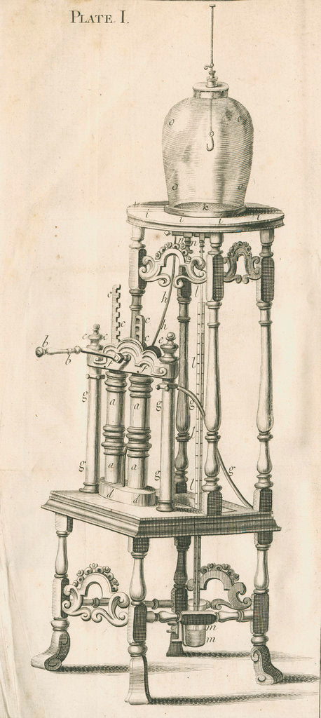 Detail of Francis Hauksbee's air pump by unknown