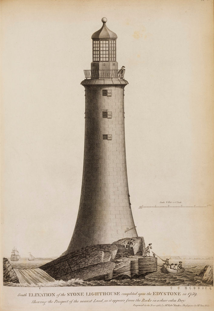 Detail of Smeaton's Lighthouse on the Eddystone Rocks by Edward Rooker