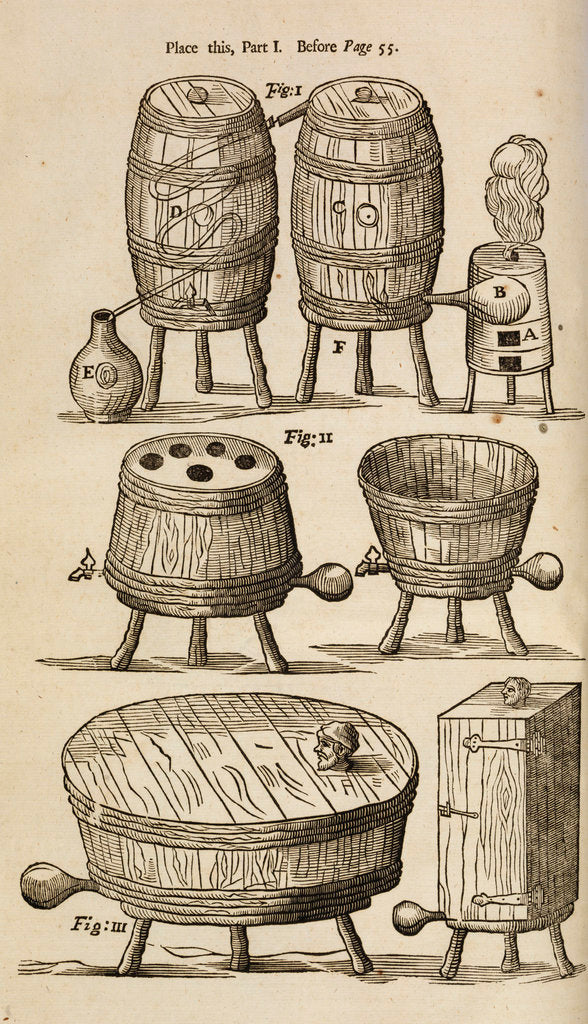 Detail of Wooden vessels for distilling, beer-making and bathing by unknown