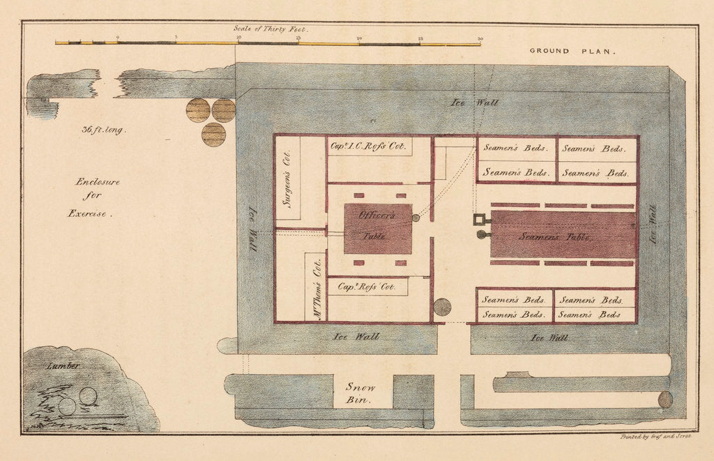 Detail of Ground plan of Somerset House by unknown