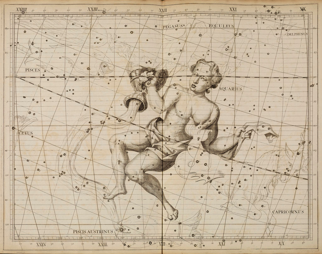 Detail of Aquarius, from John Flamsteed's 'Atlas Coelestis by Anonymous