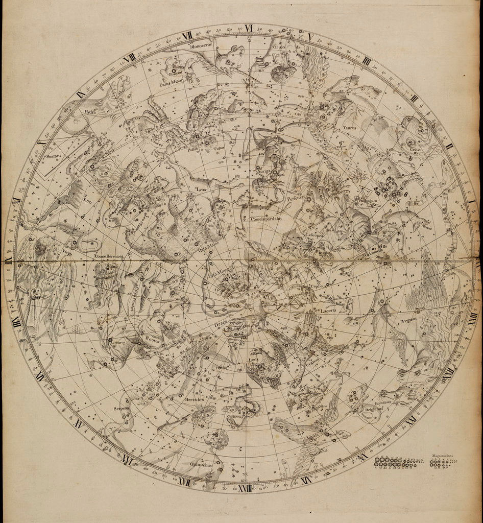 Detail of Northern planisphere, from John Flamsteed's 'Atlas Coelestis' by unknown