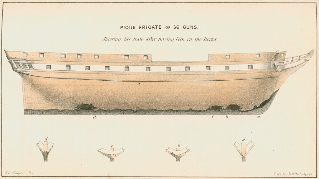 The frigate 'Pique' by Anonymous